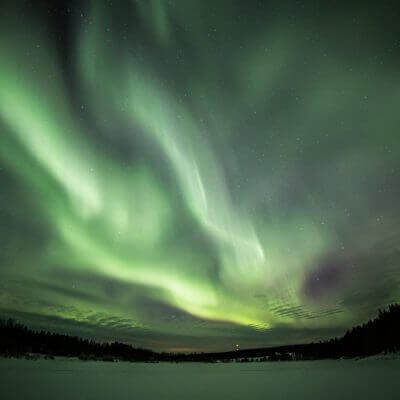 Northern Lights in Rovaniemi Lapland Finland photo by Juho Uutela