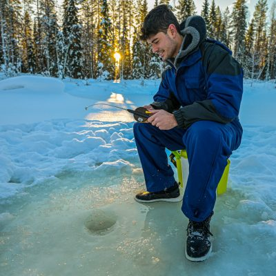 rovaniemi salmon ice fishing parpalandia